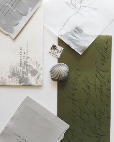 olive green envelopes