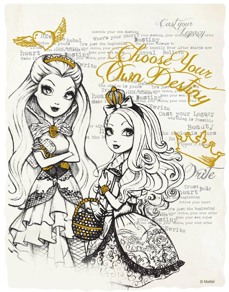 Ever After High Watercolor Set Page Apple White Raven Queen Ever After High Ever After Colouring Pages