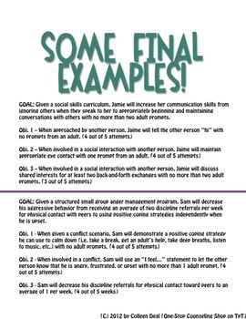 Some free sample pages from IEP Goals Related to the Common Core ...