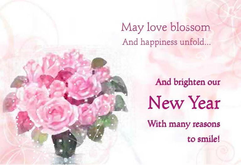 New Year Greeting Card Girlfriend Happy New Year Wishes New Year Wishes Happy New Year Quotes
