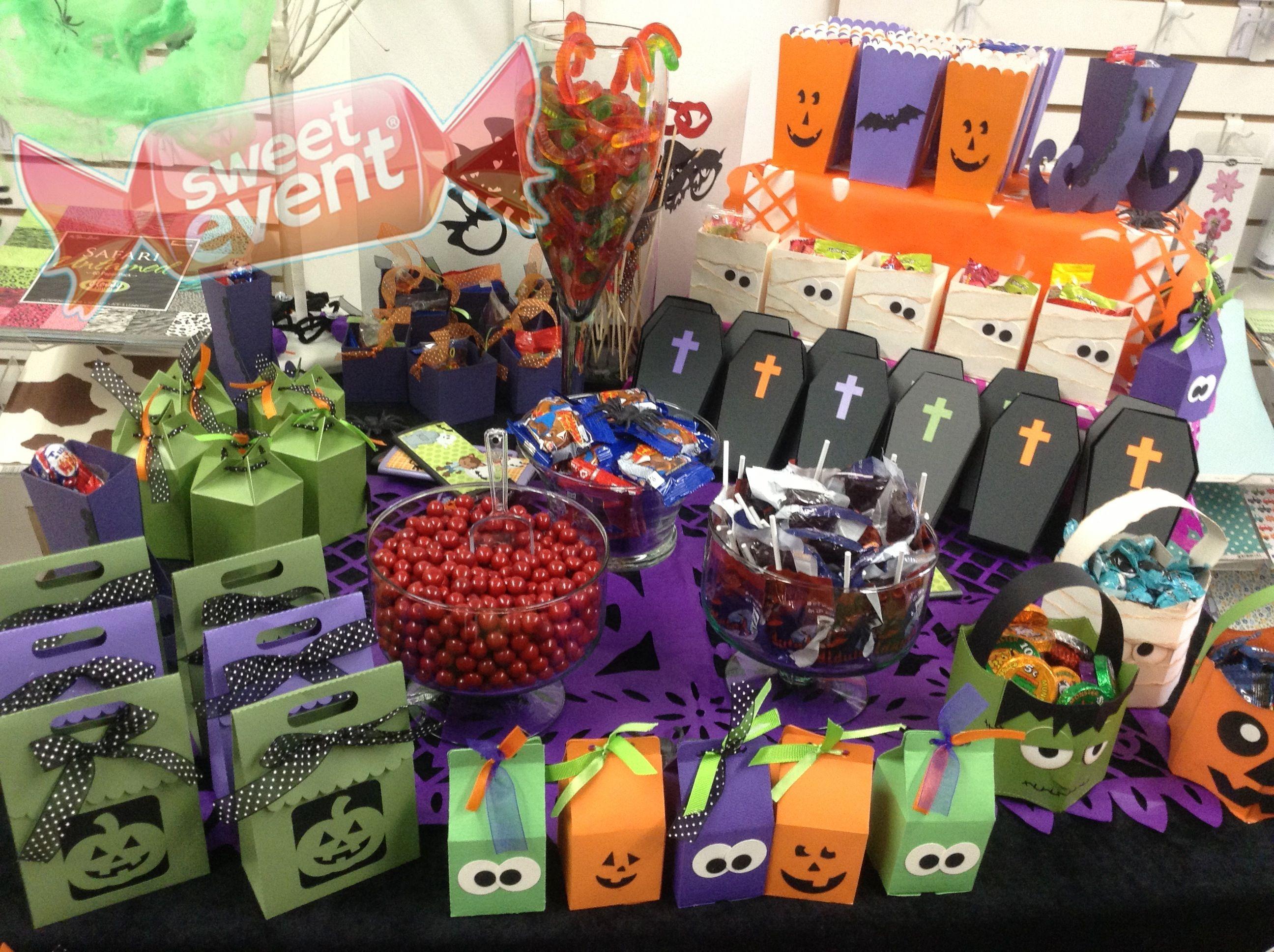 Mesa de dulces halloween pinterest party candy for Decoracion mesa halloween