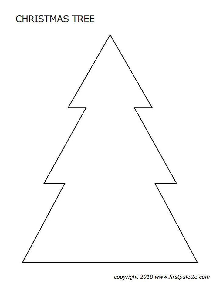 Christmas Tree Templates In All Shapes and Sizes | Cards ...