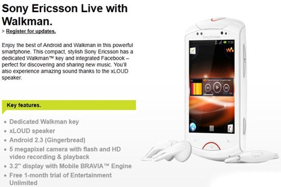 Awesome Sony Ericsson Live With Walkman HD Wallpaper Free Download