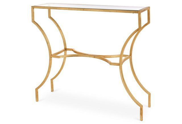Amber Console Table Gold Console Table Living Room