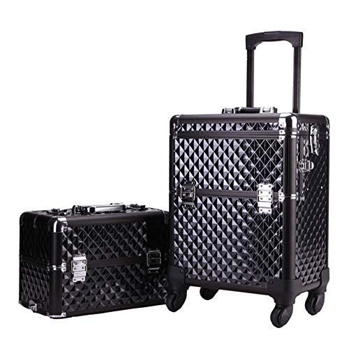 94d798409 KINYNE Trolley Maletín para Maquillaje Extra Grande Nail Art Maquillaje  Beauty Case/Trolley / Suitcase