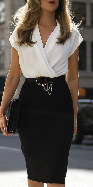0510e425e Surplice Plain Bodycon Dress for plus size curvy women on budget ...