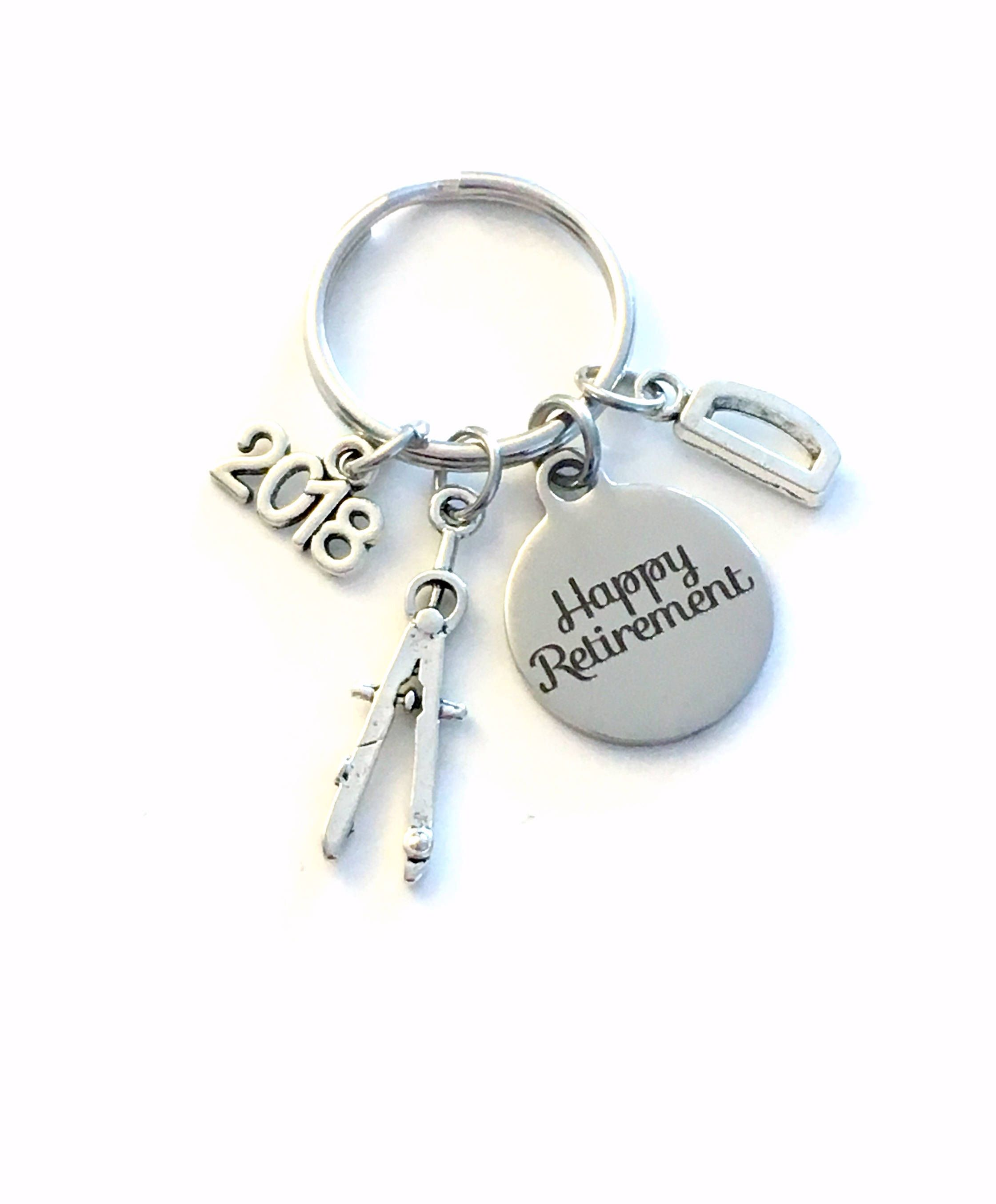 Retirement Gift For Architect Keychain   Architecture