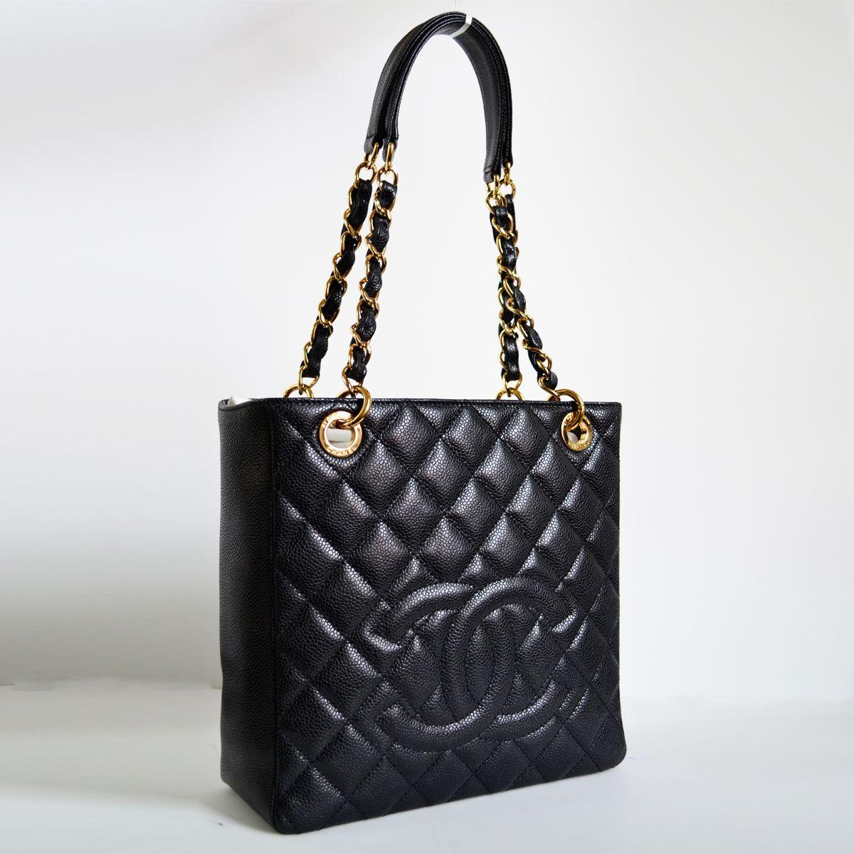 fccb7184c94 Chanel Black Caviar Petite Timeless Tote PTT Bag | My Closet ...