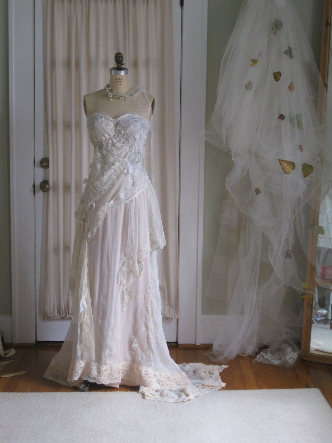 Strapless Fairy Ethereal Wedding gown by hippiebride on Etsy https://www.etsy.com/listing/223838014/strapless-fairy-ethereal-wedding-gown