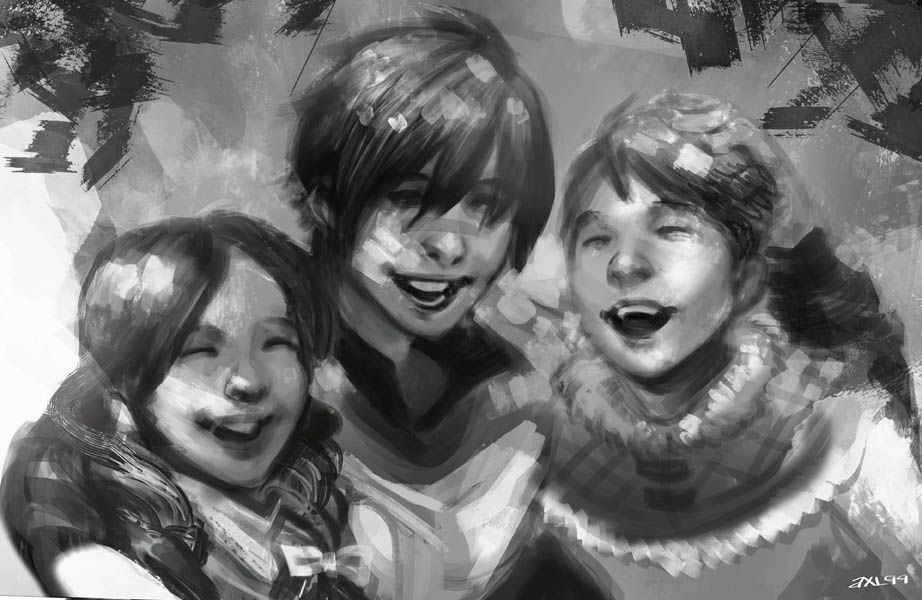 "axl99: "" The Hawke kids in happier times. """
