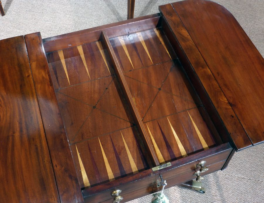 Antique Games Table Backgammon Amp Chess Table Games