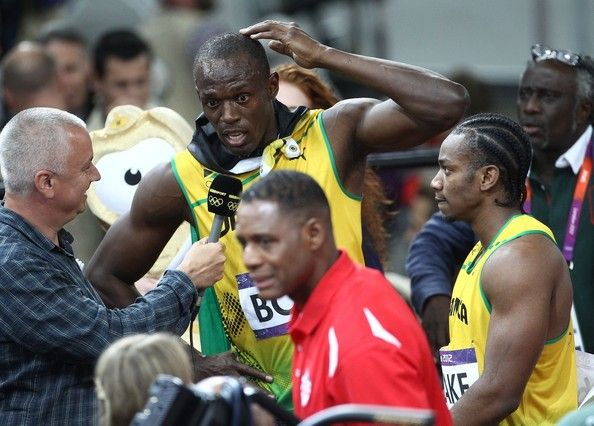 Usain Bolt Photos Photos: Usain Bolt of Jamaica wins the ...