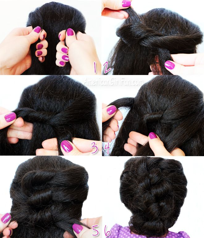 Easy Knotted Updo Hairstyle American Girl Doll Hairstyles