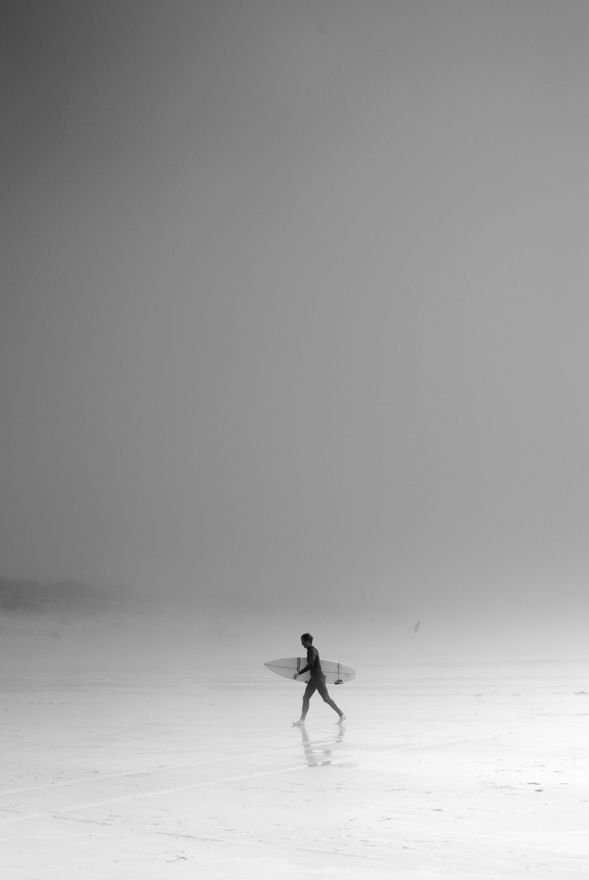 Surfin with fog -repinned from Southern California portrait photographer http://LinneaLenkus.com  #portraits