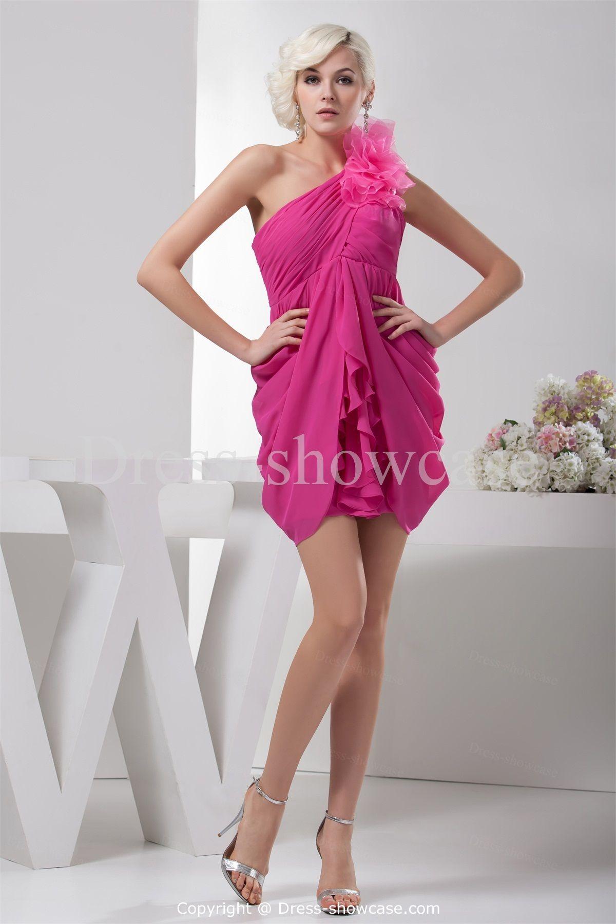 Ruffles Mini Silk-like Satin Sweet 16 Dress -Special Occasion ...