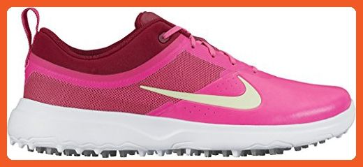 low priced ef023 6681a Nike 818732-600 Akamai Pink Red White Womens Spikeless Golf Shoes Sz 7 -  Athletic