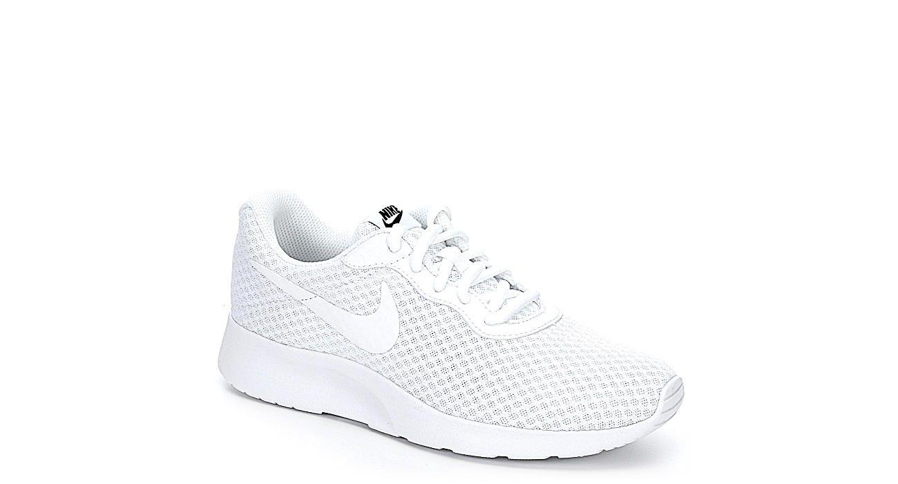 WHITE NIKE Womens Tanjun Sneaker