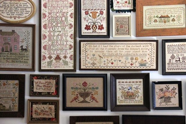 Great Stitching Wall Photo Wall Display Cross Stitch Samplers Cross Stitch