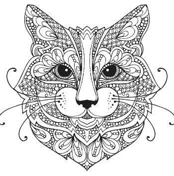 Cat zentangle coloring page | Cats + Dogs Coloring Pages for ...