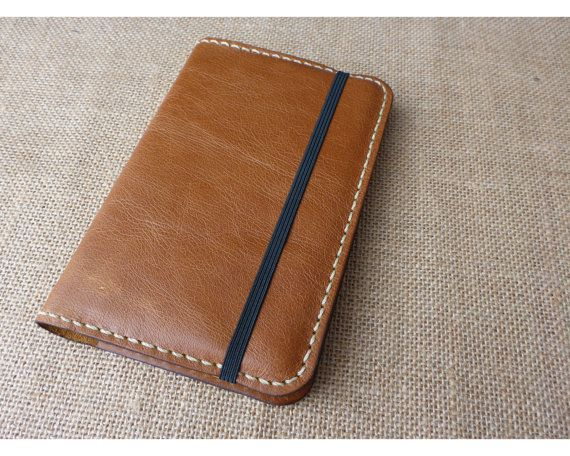 Handcrafted 'VIP' Italian Leather Moleskine Notebook Cover Case 'Pocket' 9x14cm size (cover only) - Golden Tan Vintage