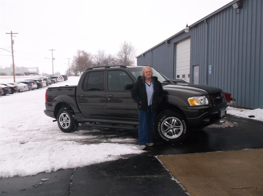 BRENDA HANS and her new 2005 FORD EXPLORER SPORT TRAC