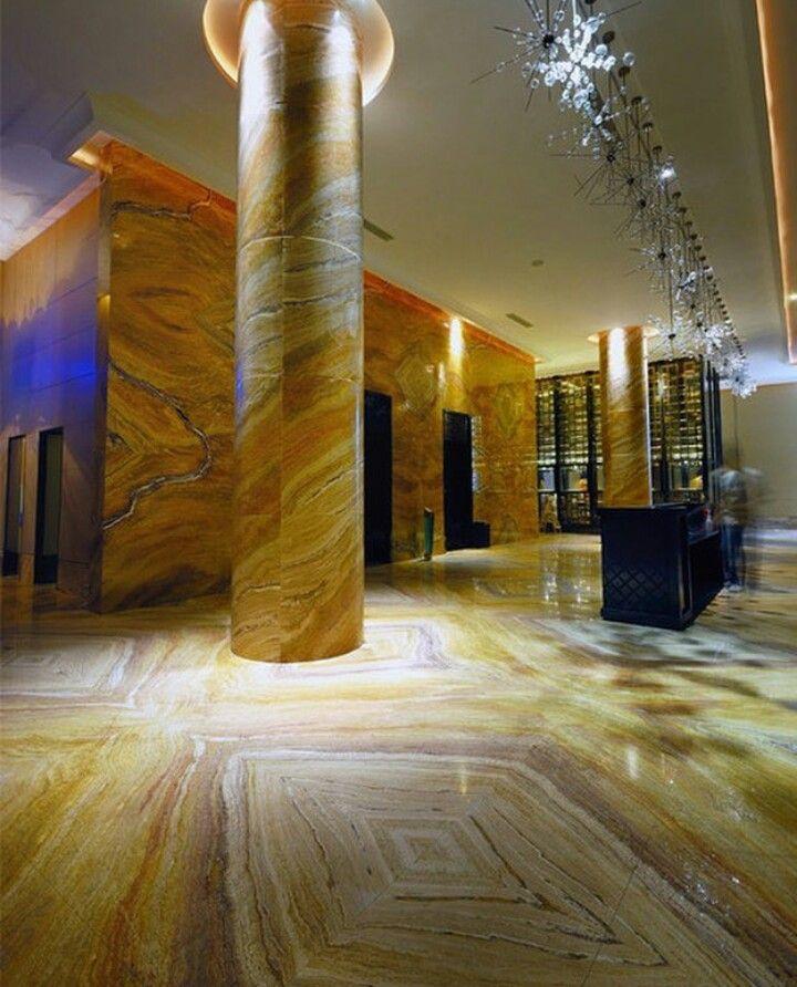 beautiful natural stone  hospital interior design