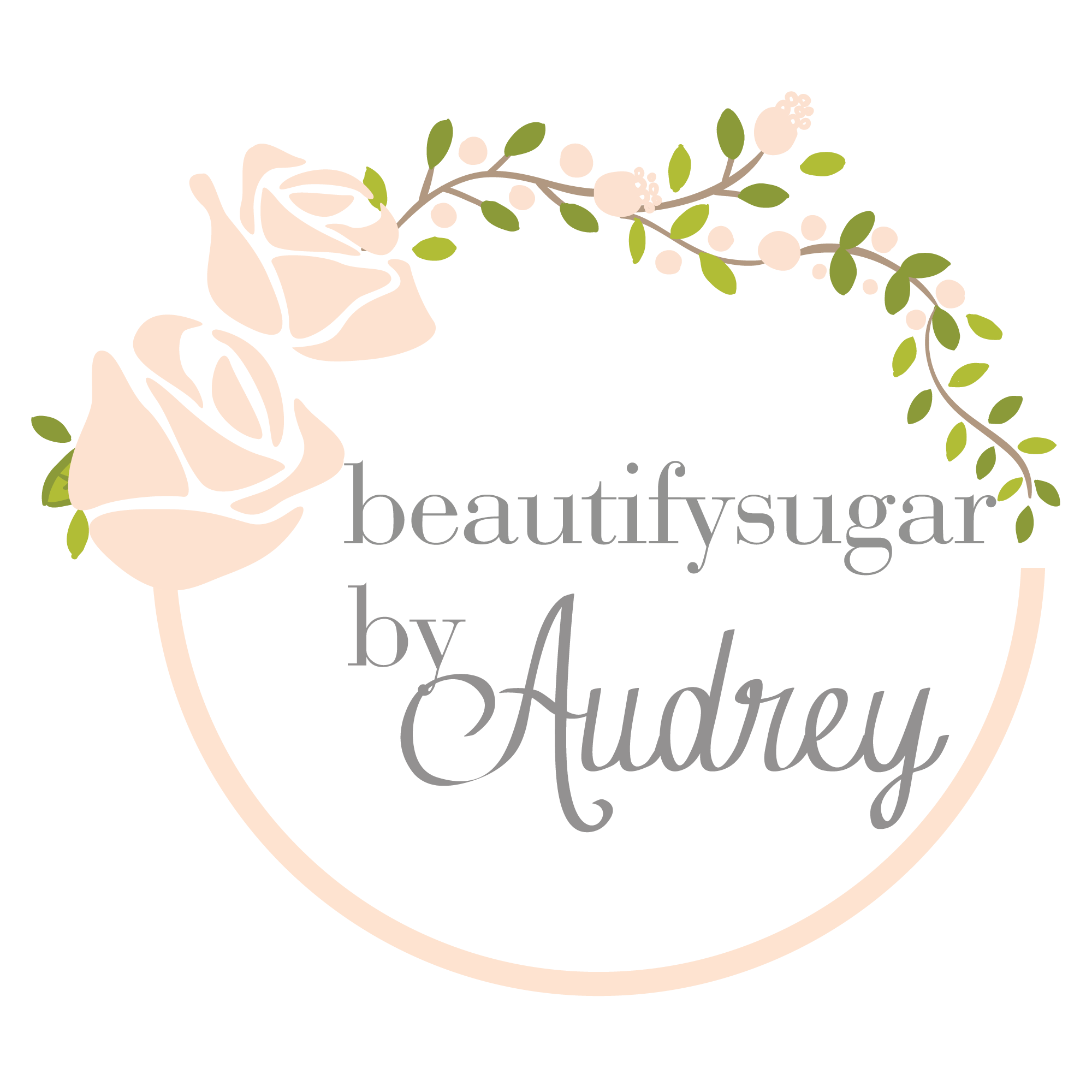 Logo Design For BeautifySugar By Audrey #feminine #vintage