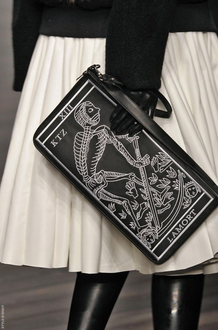 La Mort tarot card bag. Love this bag so see Death I see new life if one can let go of the old one.