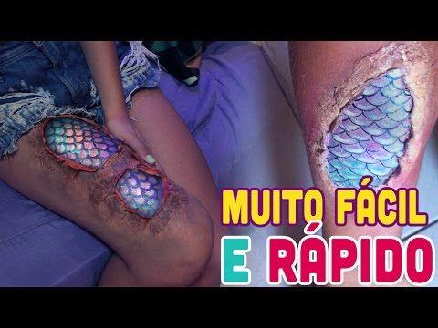 e52e917223c8e ESCAMAS DE SEREIA PARA O CARNAVAL / MAKE MERMAID - YouTube   Dress ...