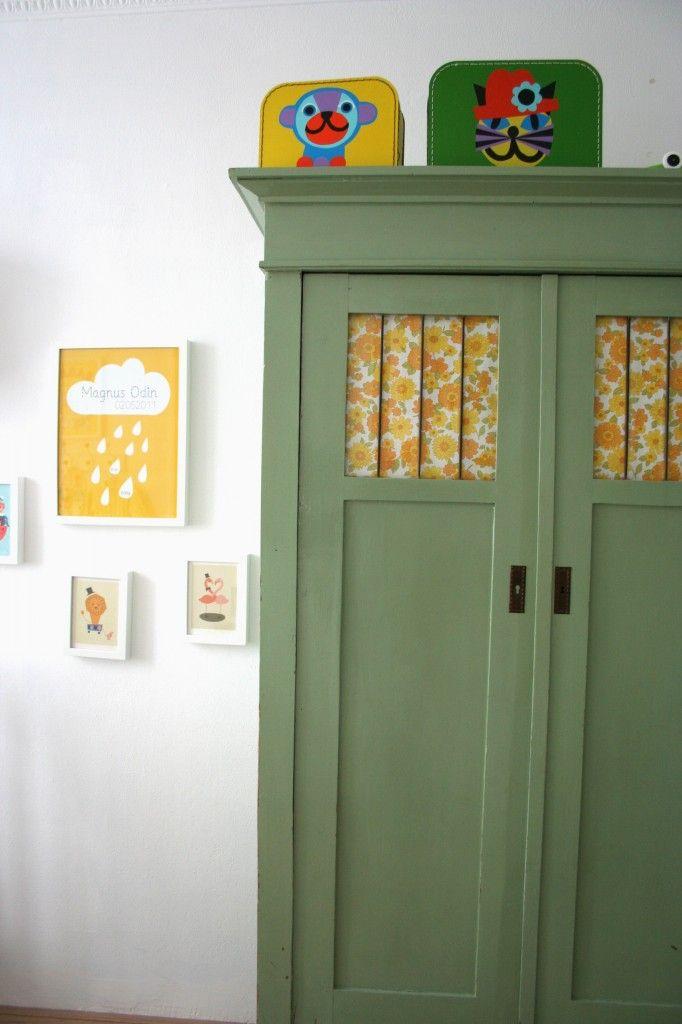 Kleiderschrank grün | Kinderzimmer | Pinterest | Kleiderschränke ...