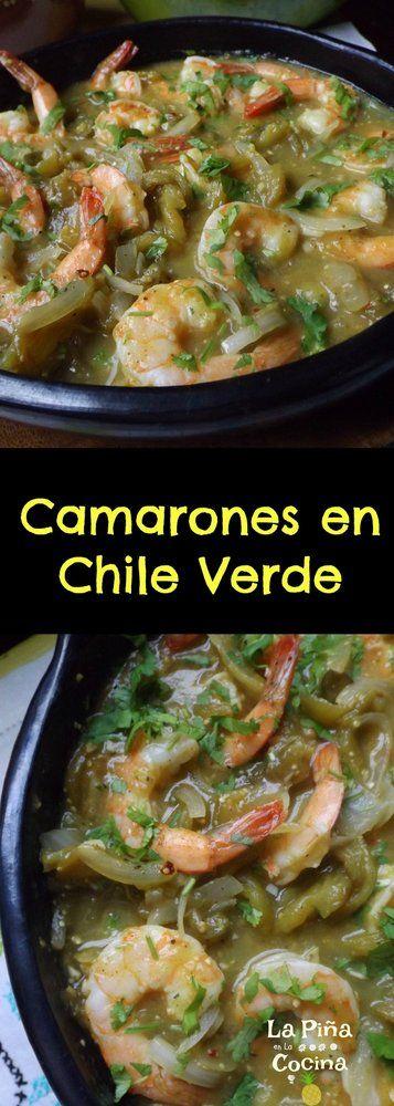 Shrimp Chile Verde (Camarones en Chile Verde) - La Piña en la Cocina