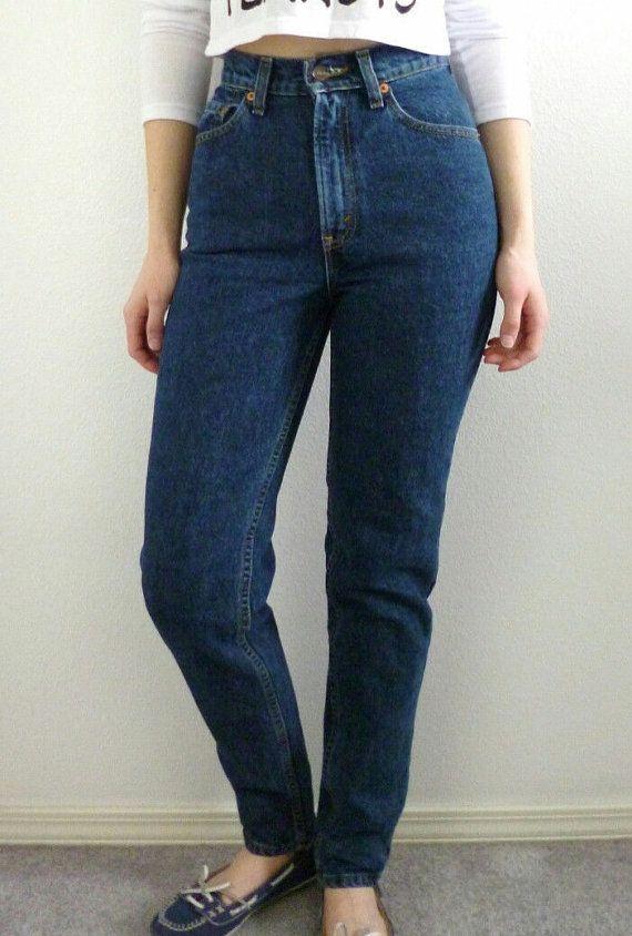 Levis High Waist Vintage Denim Jeans All Sizes Dark Wash Gift