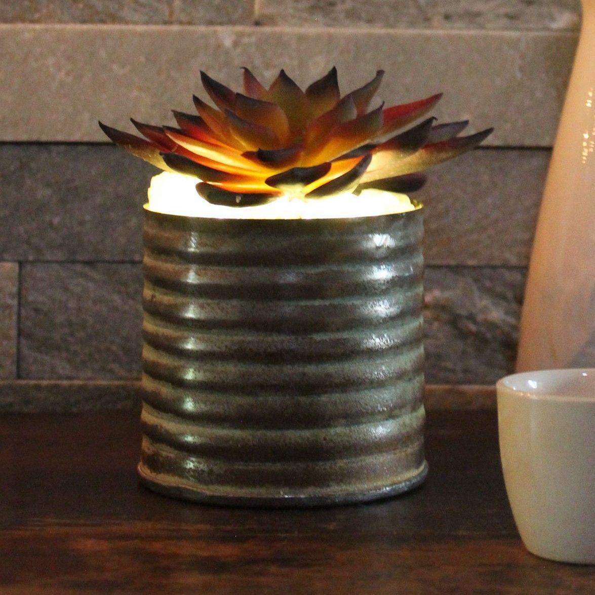 Artificial Burgundy Echeveria Succulent Desk Top Plant in Decorative Vase