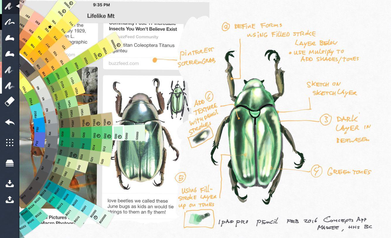 Layering basics iPad pro and concepts app | c art