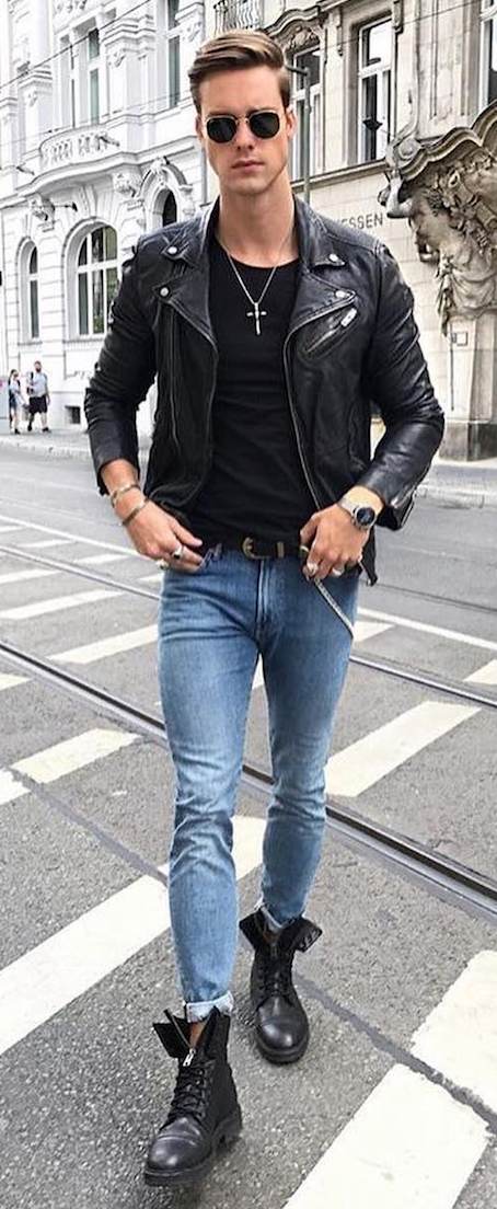 9ca29a577e3 Looks All Men With a Bad Boy Spirit Should Try Out. Street edgy Bad boy  outfits with chains ripped jeans
