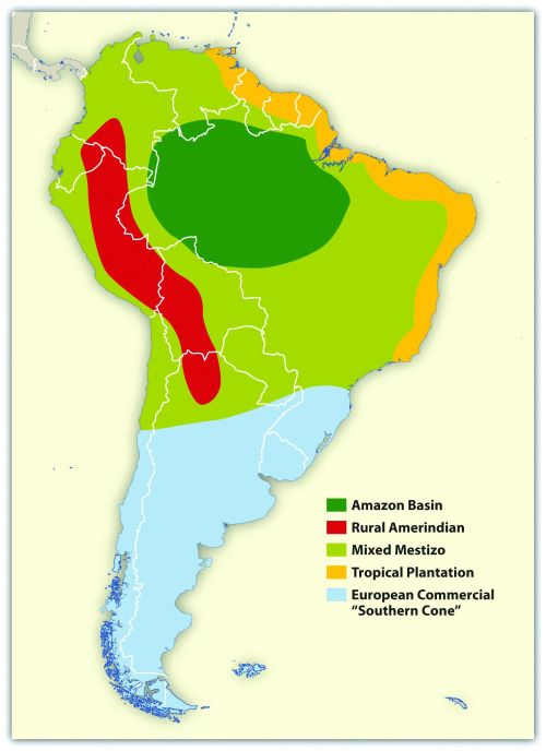 Cultural Map of South America. | South america map, Map ...