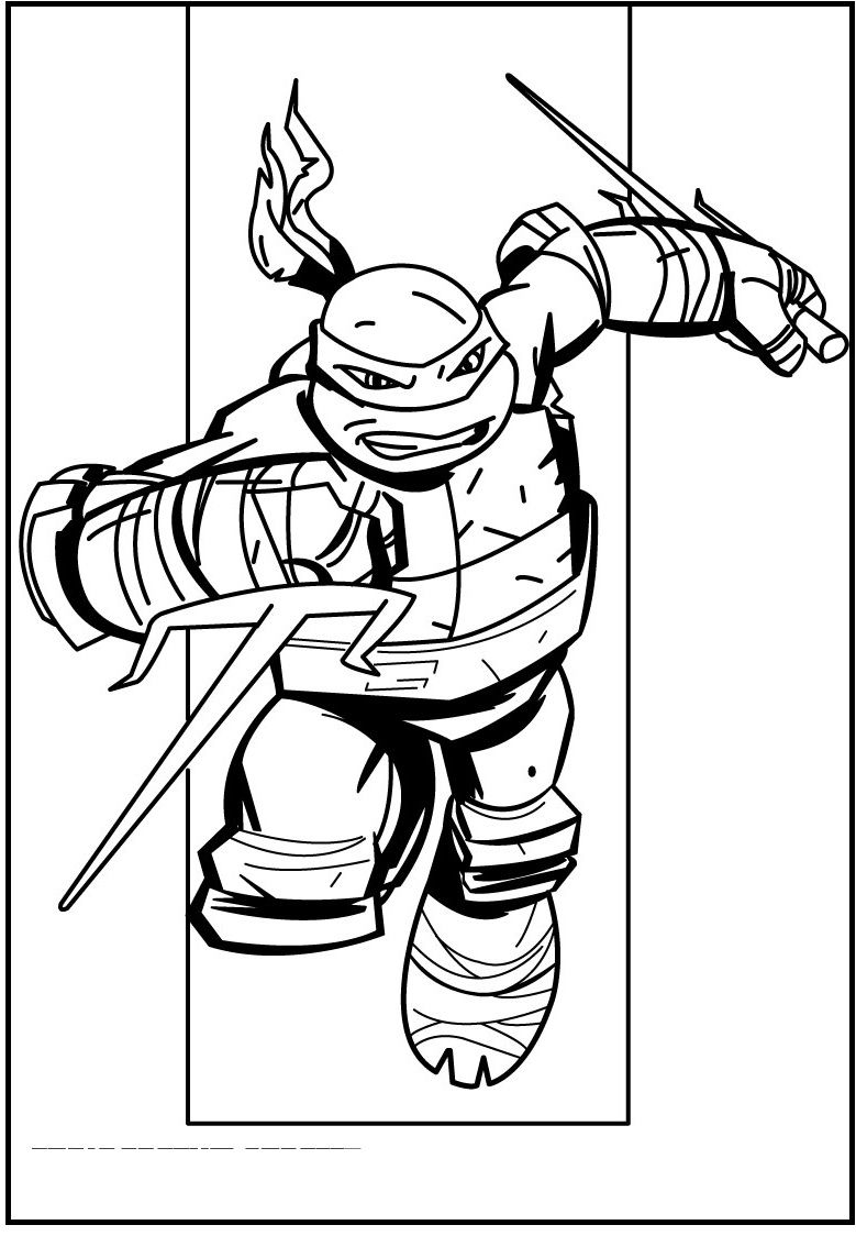 teenage mutant ninja turtles raphael coloring picture for kids