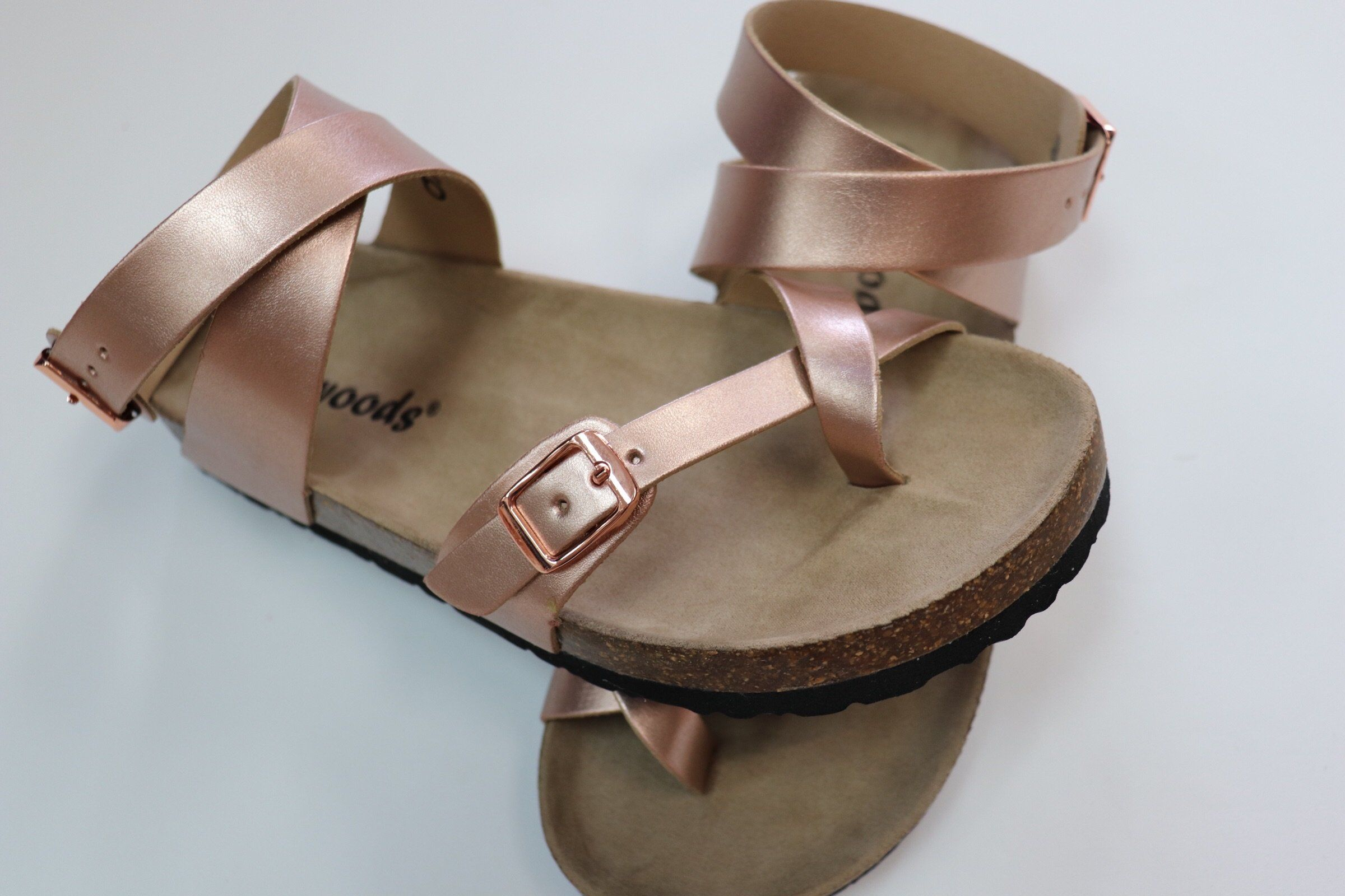 brand new 0fb6e 78009 Rose Gold Wrap Birkenstock Style Sandal | Shoes | Rose gold ...
