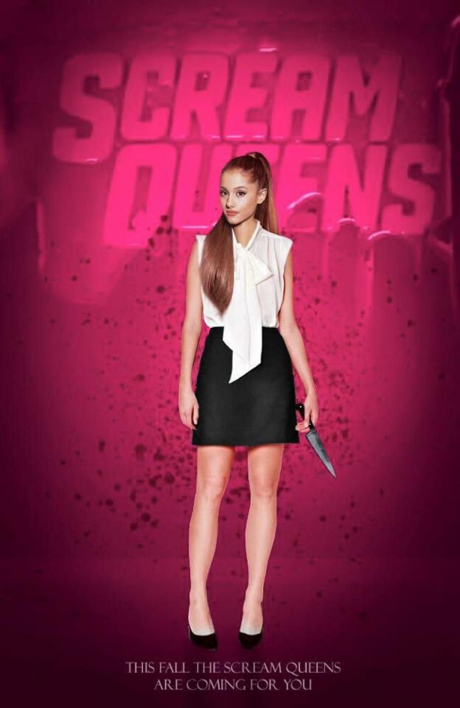 ariana grande scream queens poster ariana grande pinterest queen poster scream queens. Black Bedroom Furniture Sets. Home Design Ideas