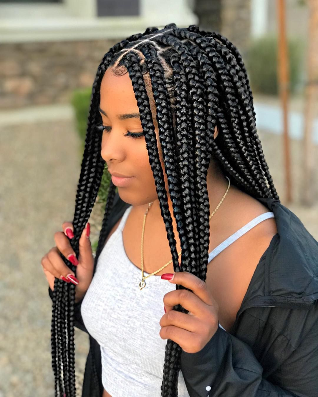 pin by my info on box braids in 2019   braided hairstyles