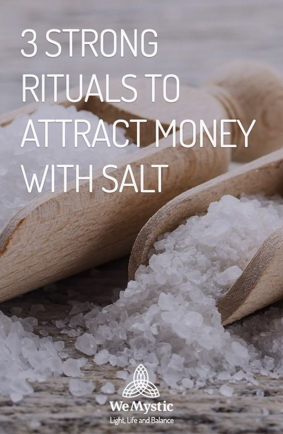 3 strong rituals to attract money with salt - WeMy