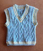 Ravelry: Keene Toddler Vest pattern by Marilyn Losee