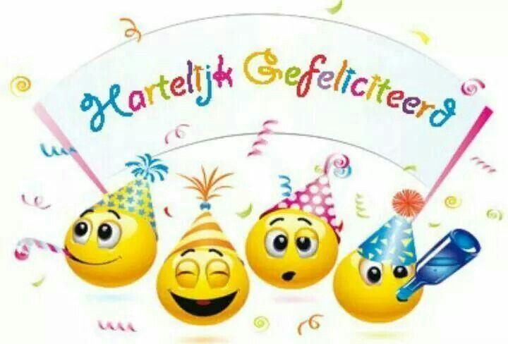 gefeliciteerd smiley Smileys gefeliciteerd   felicitaties diverse   Pinterest   Happy  gefeliciteerd smiley