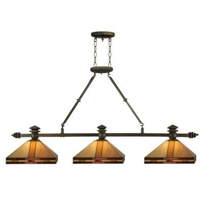 Dale Tiffany Mission 79 In 3 Light Antique Br Island