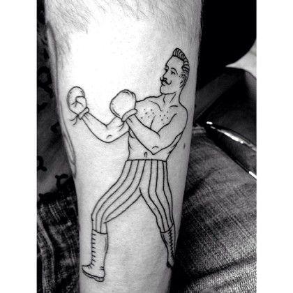 Boxer New Tattoo Ink B W Simplicity Lines Boxer Tattoo Tattoo Bills Inspirational Tattoos