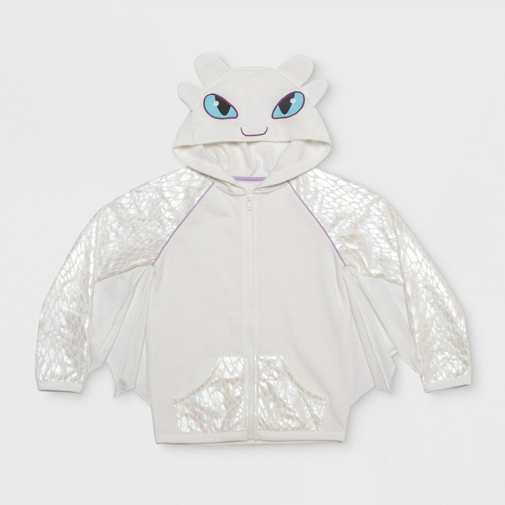 Girls How To Train Your Dragon Light Fury Costume Hoodie Ivory M White How Train Your Dragon Dragon Light How To Train Your Dragon