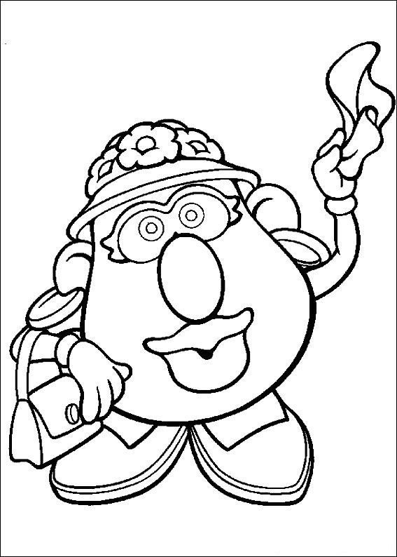 57 Coloring Pages Of Mr Potato Head Toy Story Coloring Pages