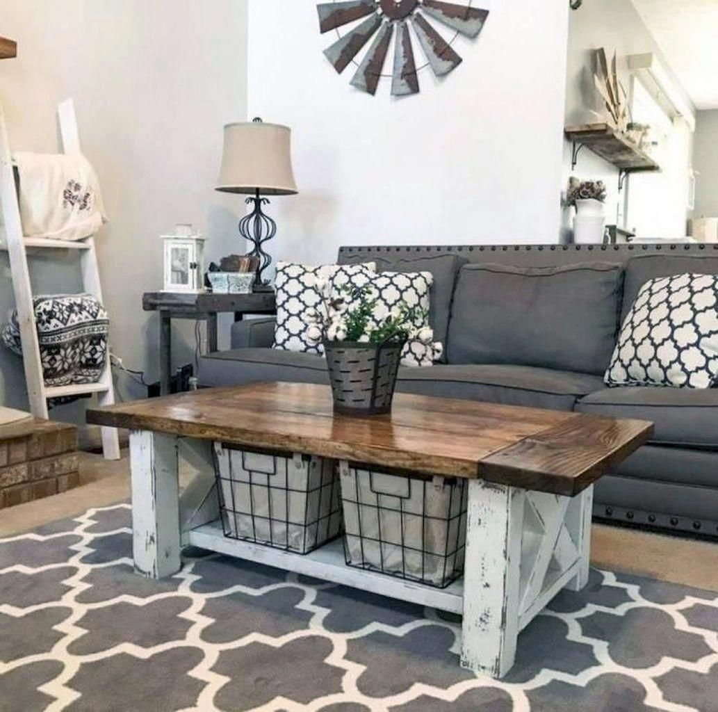 Stunning Ideas For A Farmhouse Living Room With Dark Gray Couch That Will In 2020 Farmhouse Decor Living Room Farm House Living Room Modern Farmhouse Living Room Decor