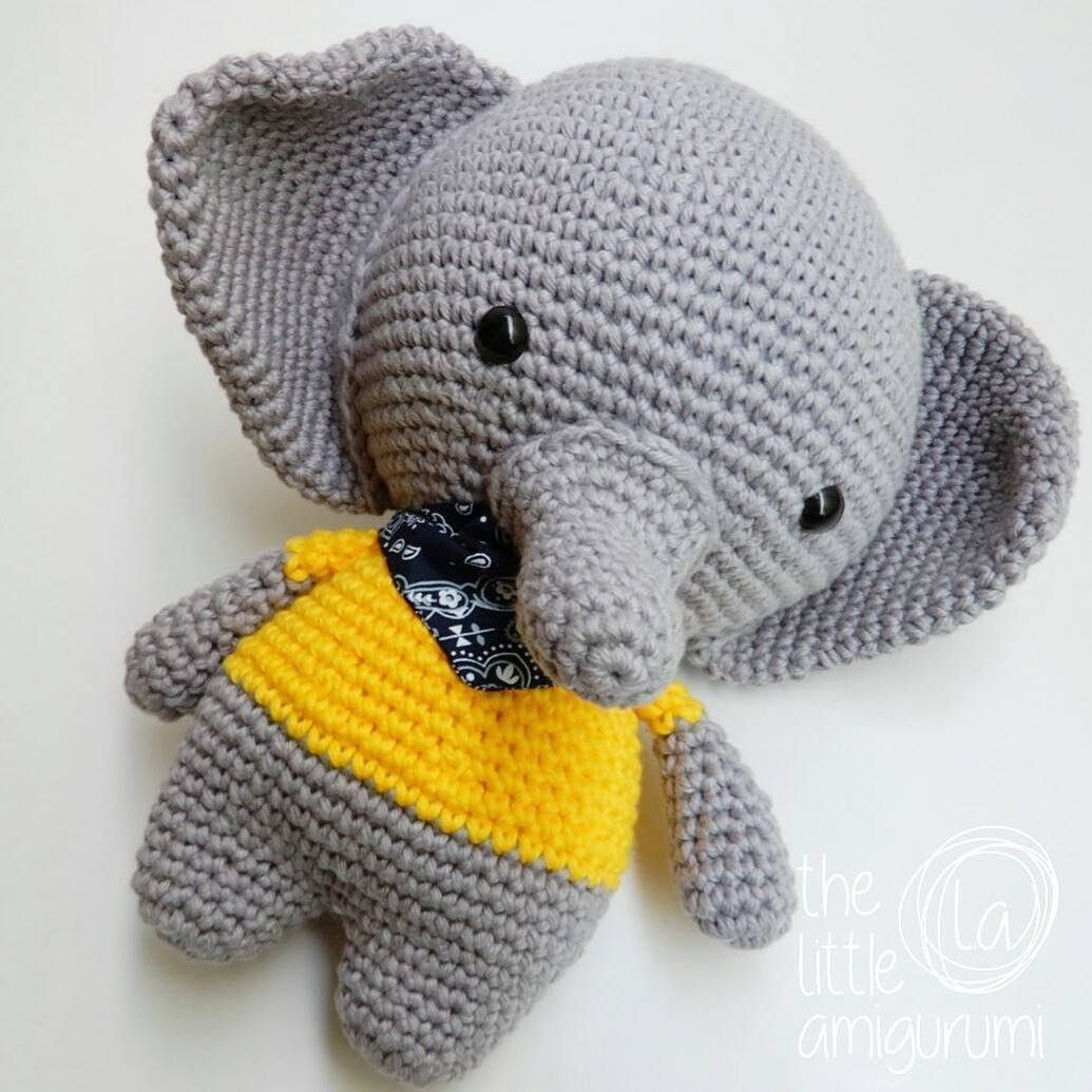 Joe the elephant made by @the_little_amigurumi ❤ Make your own ...
