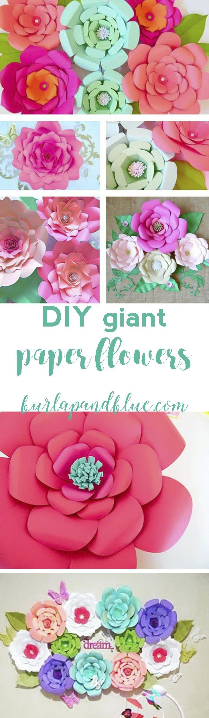 How To Make Paper Flowers Paper Flowers Pinterest Giant Paper